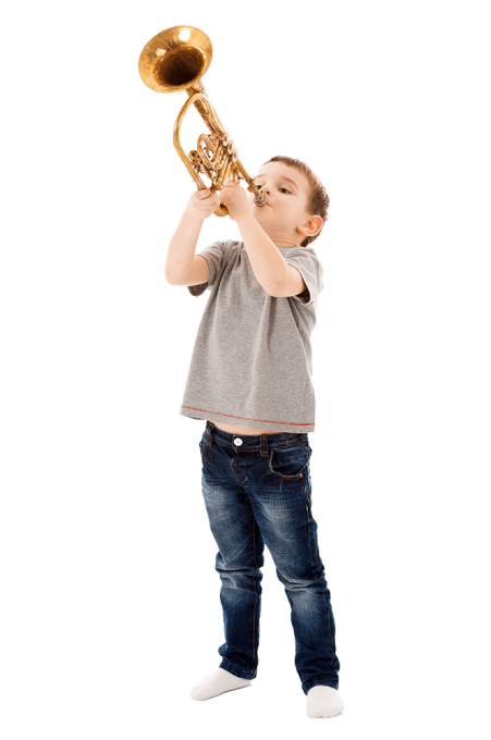 Niño trompeta